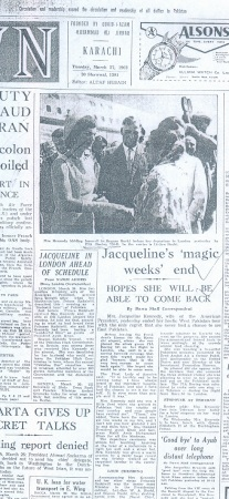 Newspaper covering her visit