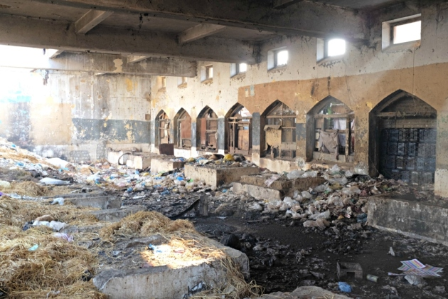 Empress Market - the fish section which has been abandoned and has become home to drug additcts