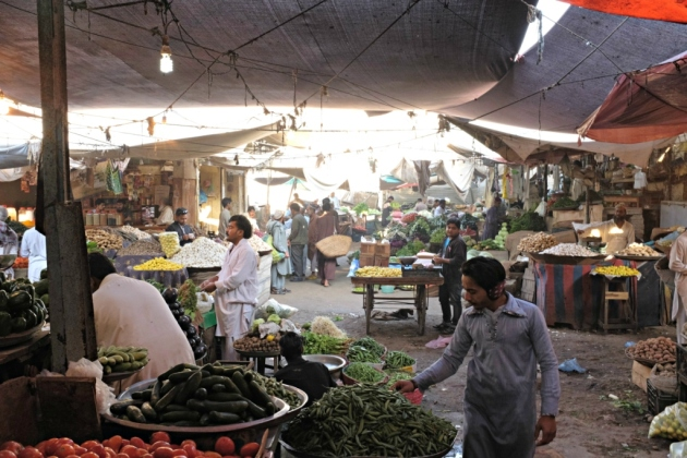 Empress Market - The hustle bustle of vegetable section