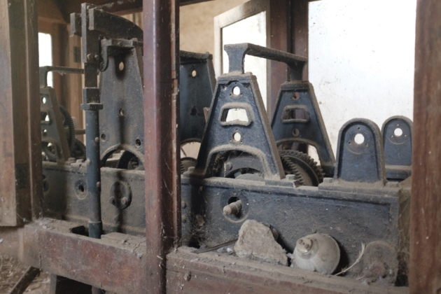 Empress Market - the machinery inside the clock tower compound