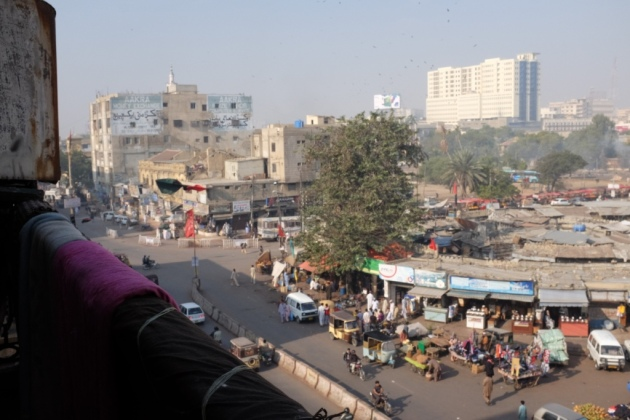 Empress Market - the view from the house opposite Empress Market