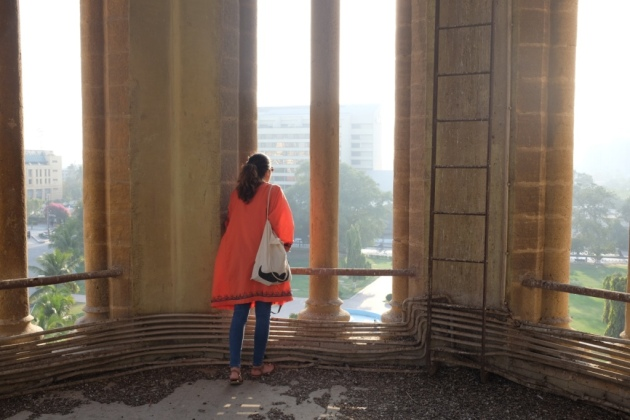 Frere Hall - The photograhper looks from the main tower