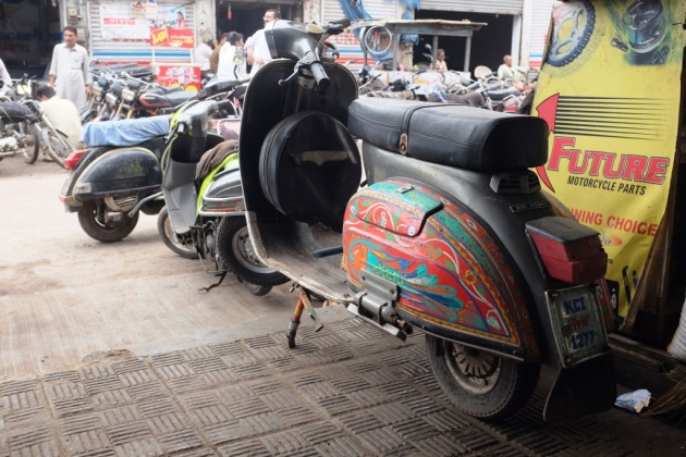 11 - A Vespa with truck art at Abdullah shworoom