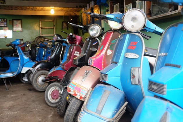 12- Abdullah has one of the largest collection of Vespas in the city
