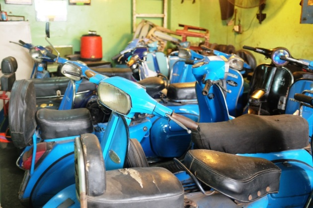 9 - Various models of Vespas inside Abdullah showroom