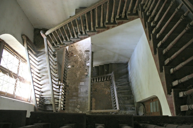 4 - Inside view of staircase leading to the top of DJ Science  college