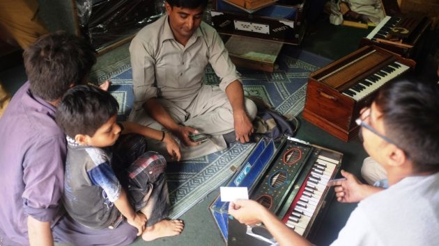 1 - A musician from Hyderabad gets his harmonium repaired from Saleem and Sons