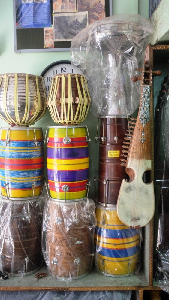 1 - Different music instuments at display at Saleem and Sons