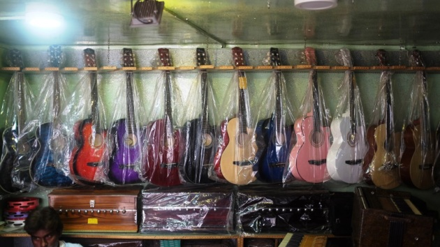 1 - Over time Guitars have become a significant part of merchandize on display at Saleem and Sons