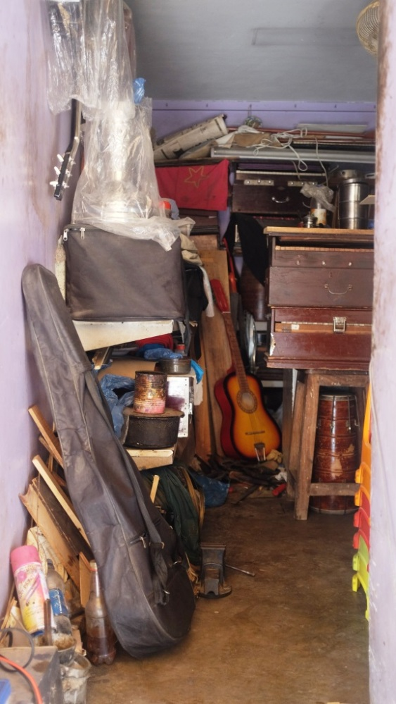 3 - Waheed has a tiny shop which is stocked with various music instruments