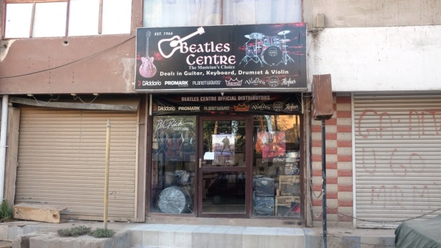 4 - Beatles Music shop entrance on Jheel Park road