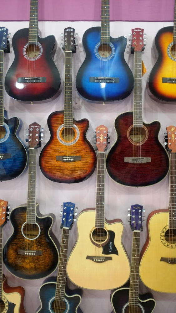 4 - Guitars at display in Beatles Music Shop