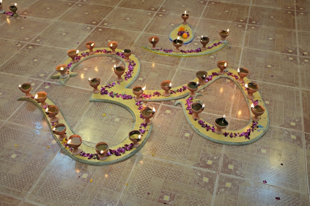 5-om-symbol-displayed-inside-krishna-temple-for-diwali