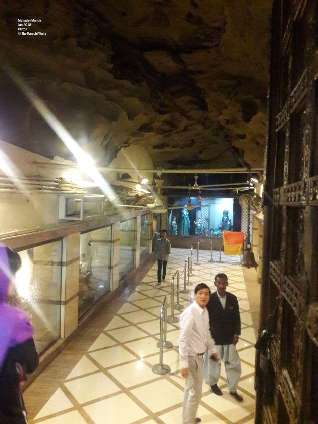 Mahadev Mandir, Karachi   The temple inside the cave  A